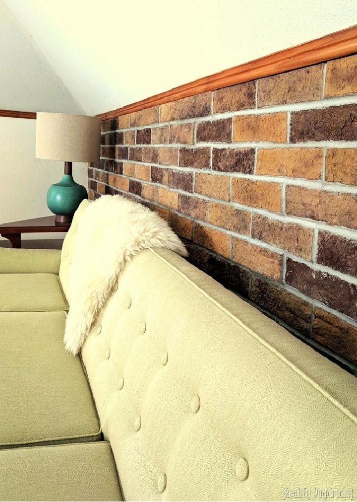 Brick Accent Wall in Attic
