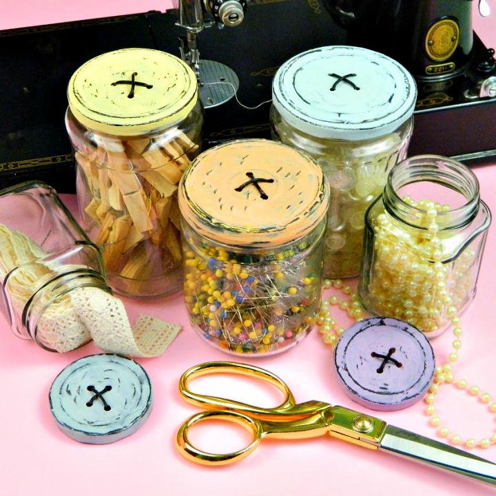 Button Jars DIY