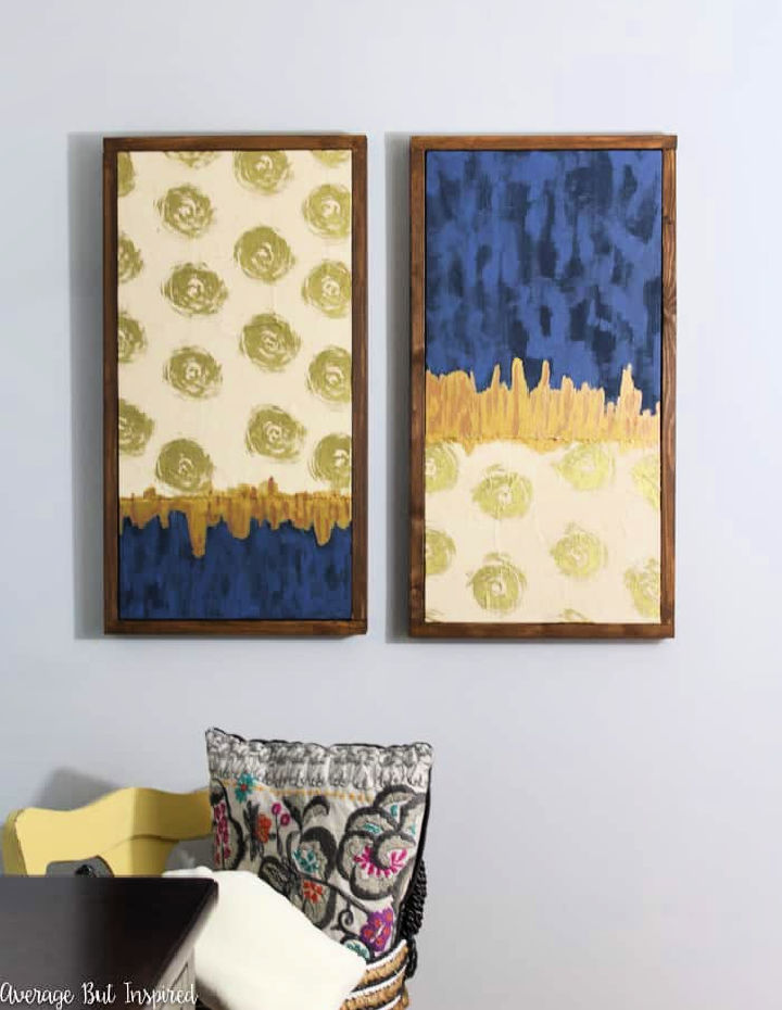 Canvas Art with Wrapping Paper
