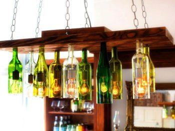 Chandelier from Old Wine Bottles 1