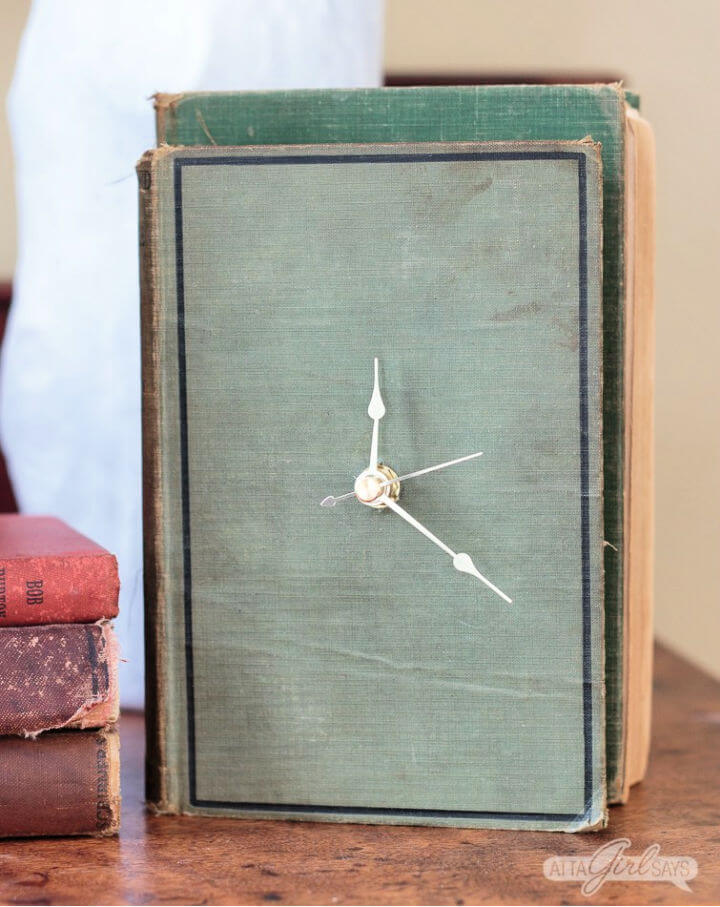 Clock from an Old Hardback Book
