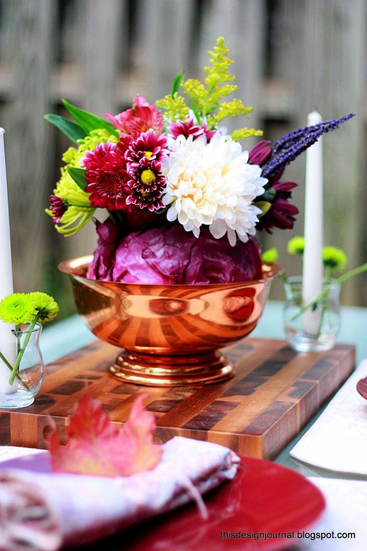 Colorful Centerpiece for Thanksgiving Table