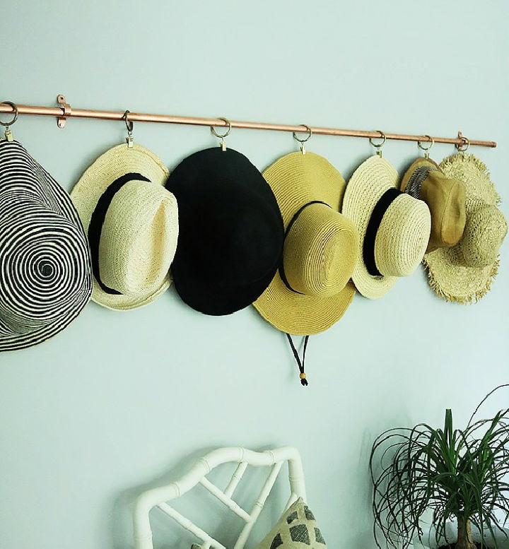 Copper Hat Rack