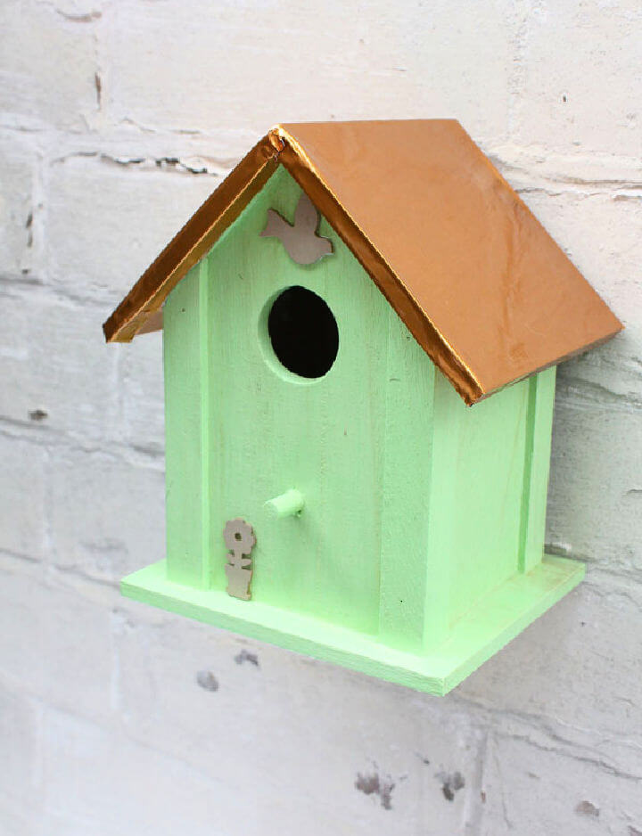 Copper and Mint DIY Birdhouse