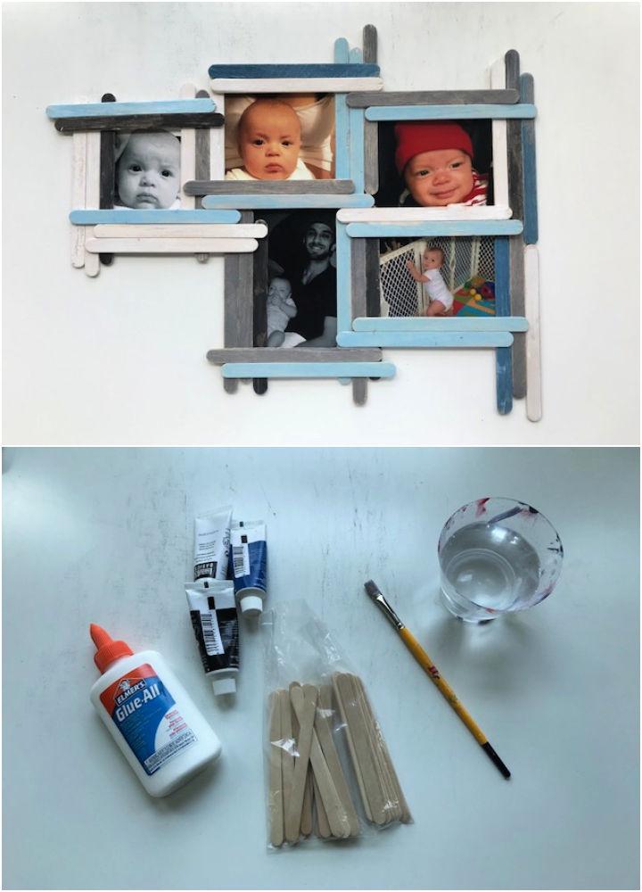 Craft Stick Photo Collage