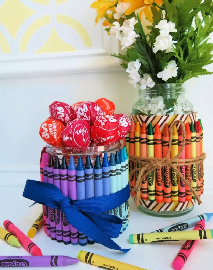 Crayon Covered Gift Jars