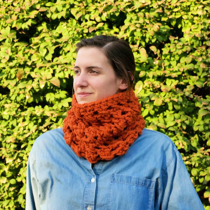Crisscross Crochet Neck Warmer