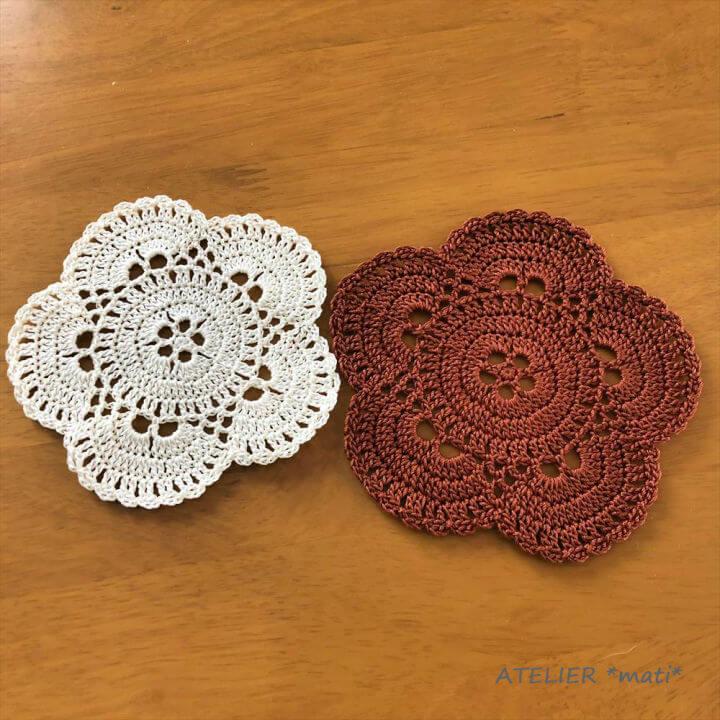 Crochet 5 Petal Virus Doily