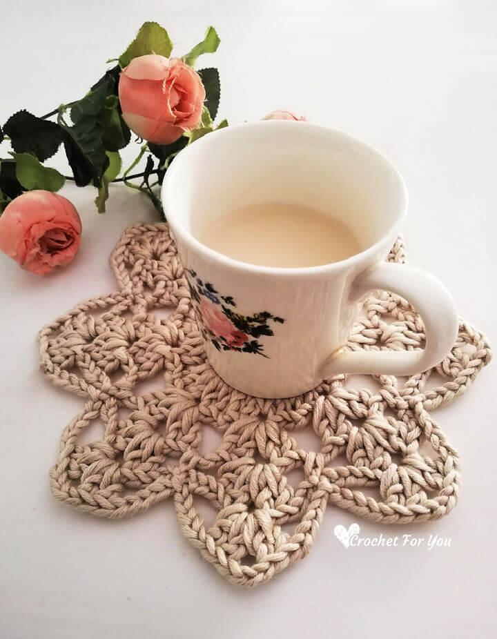 Crochet 8 Petals Flower Doily