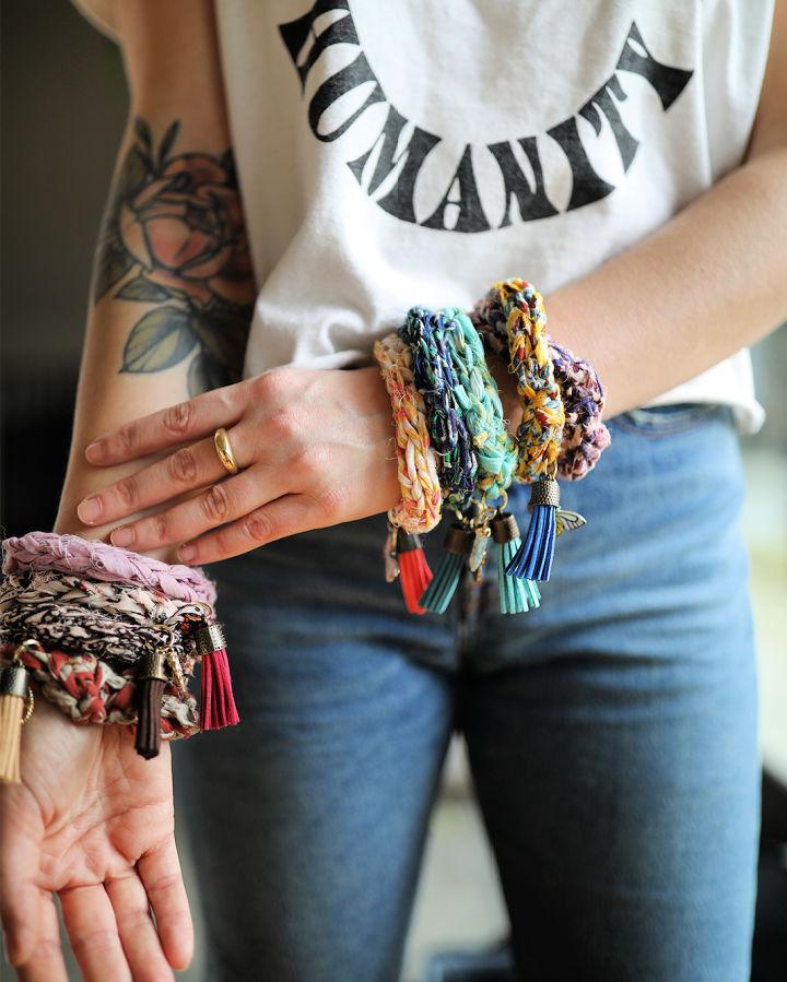 Crochet Bff Bangle Bracelet
