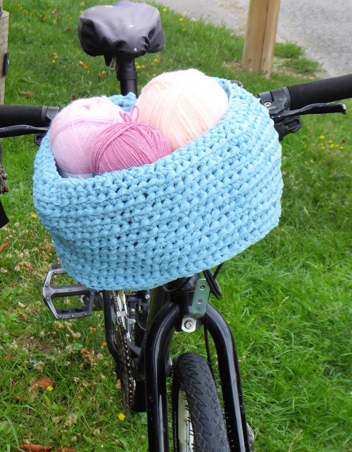 Crochet Bike Basket Pattern