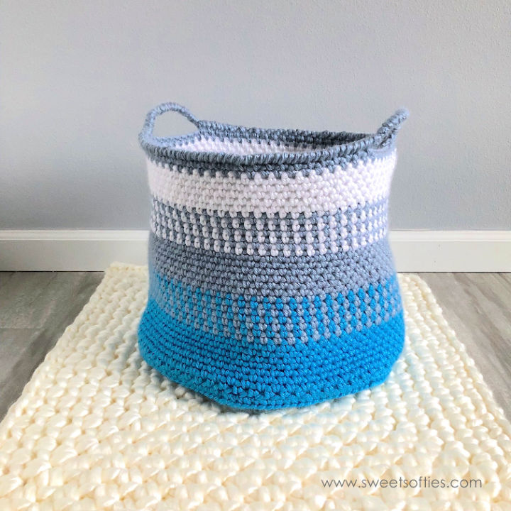 Crochet Blue Coast Basket