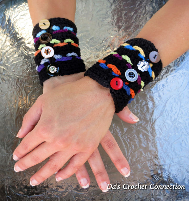 Crochet Boho Cuff Bracelet