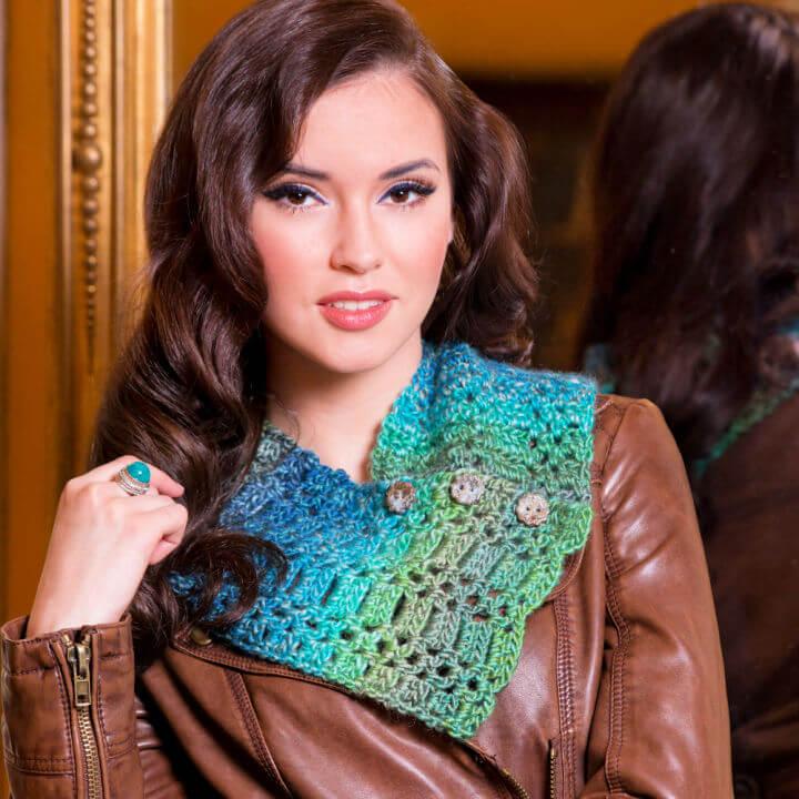 Crochet Button Up Neck Warmer