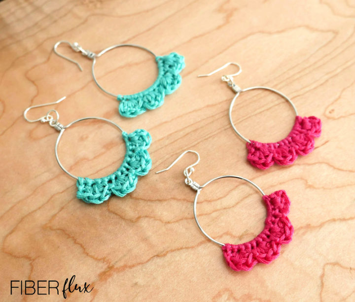 Crochet Caribbean Wave Hoop Earrings