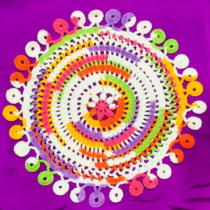 Crochet Cheerful Summer Doily