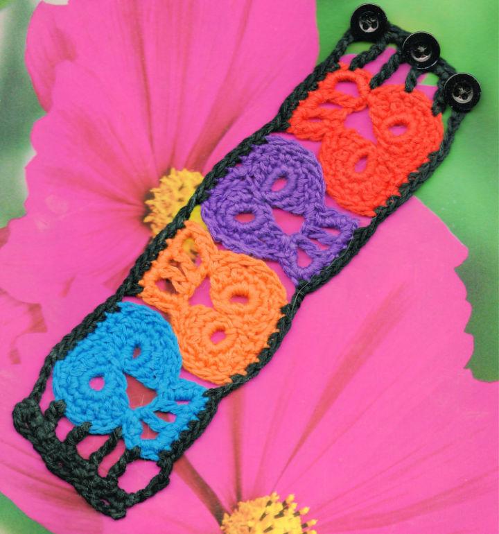 Crochet Dead Skull Bracelet
