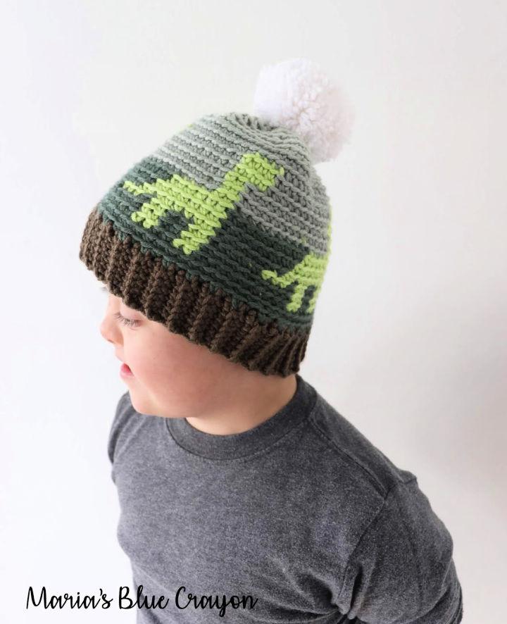 Crochet Dinosaur Hat for Kids