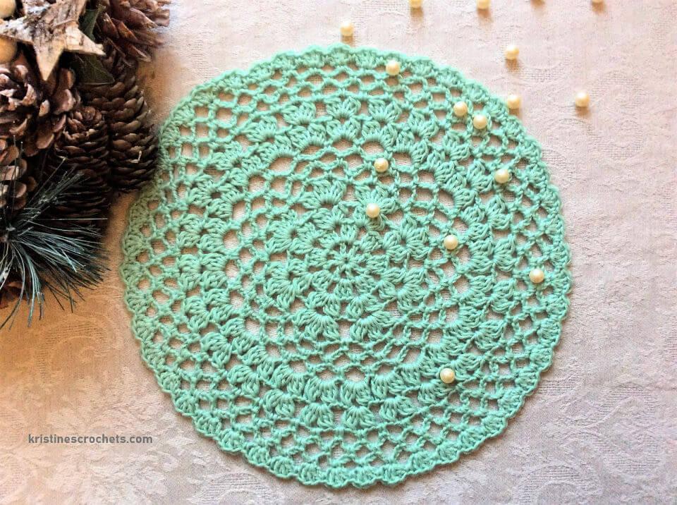 Crochet Fresh Mint Doily Pattern