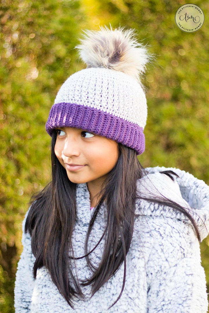 Crochet Gracelynn Ribbed Hat