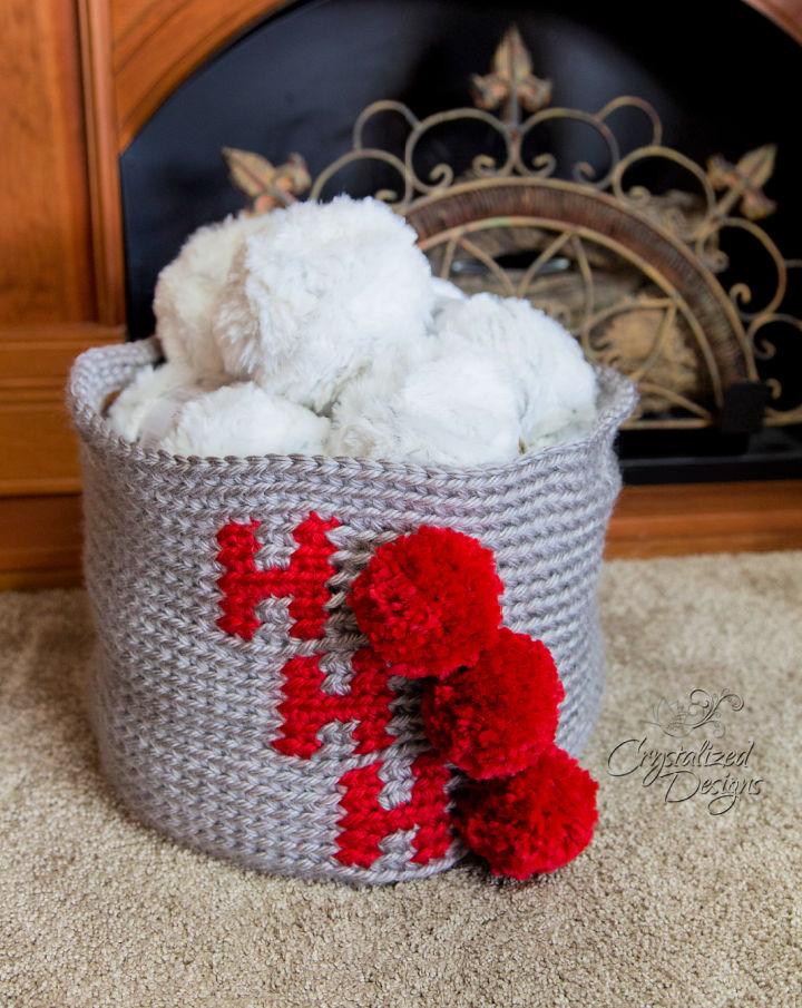 Crochet Ho Ho Ho Basket
