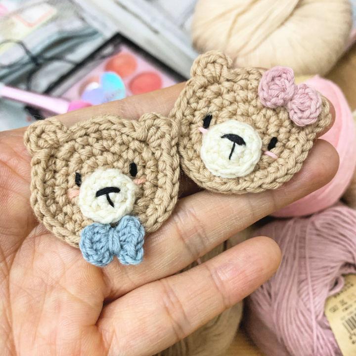 Crochet Little Bear Brooch