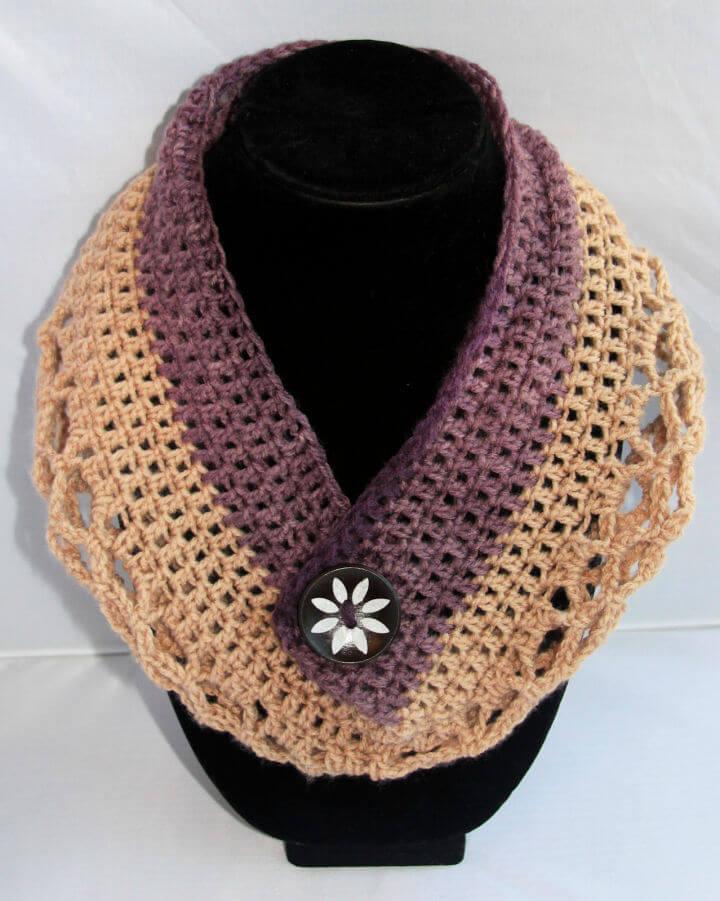 Crochet Mandala Neck Warmer