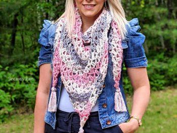 Crochet Marielle Lace Shawl Pattern