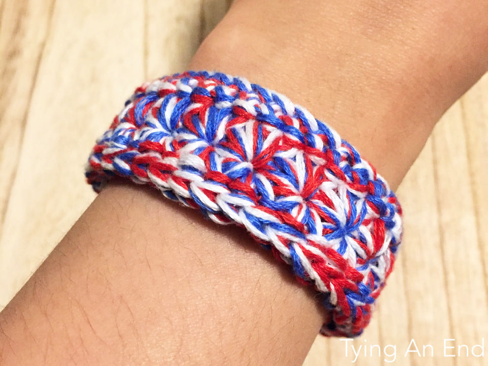 Crochet Mixed Star Bracelet