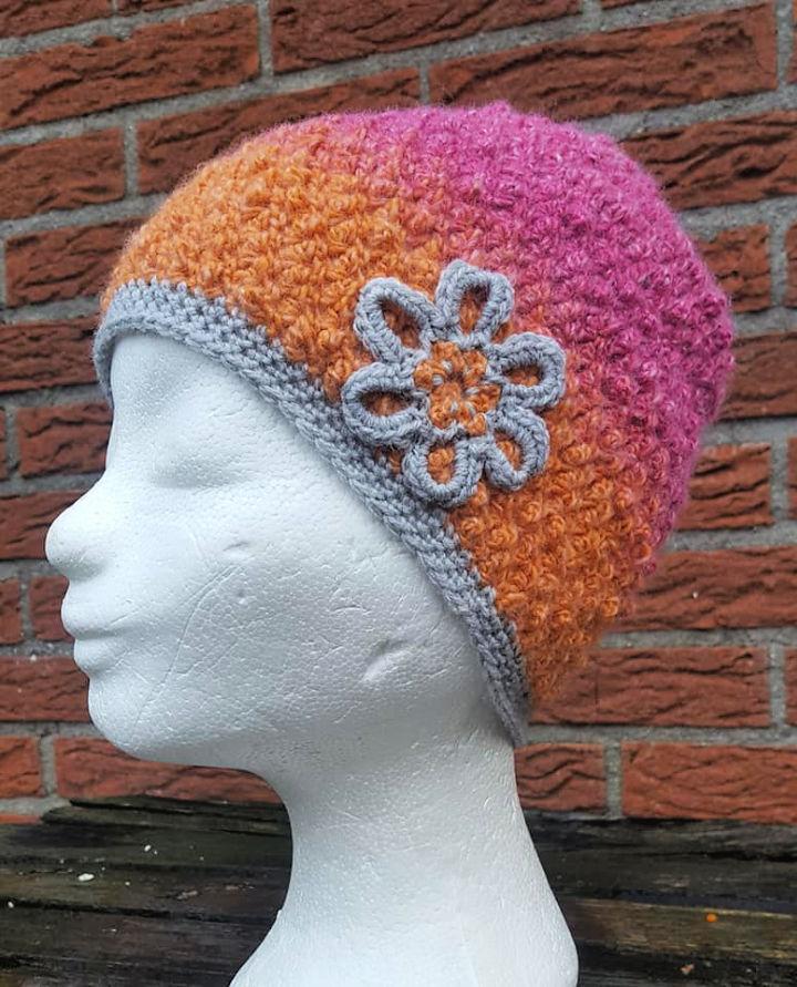 Crochet Moss Stitch Hat
