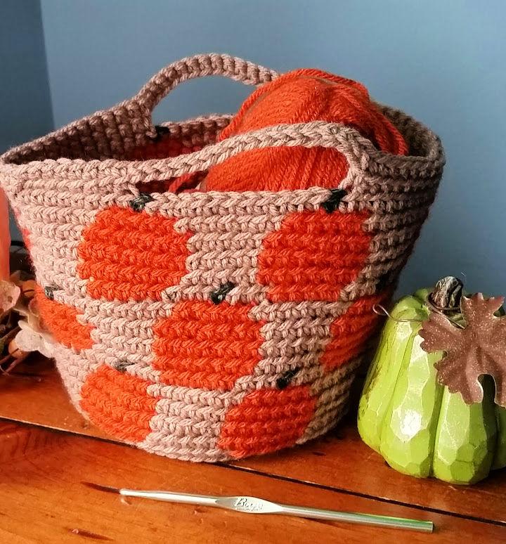 Crochet Pumpkin Basket