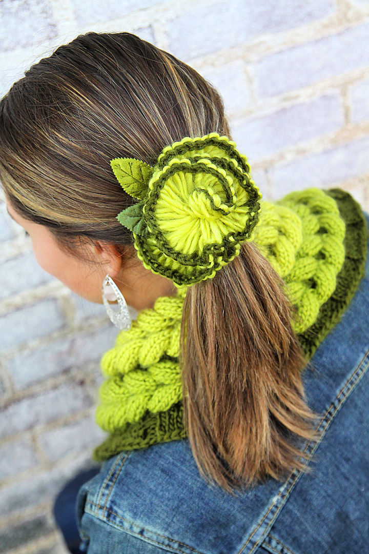 Crochet Rampion Flower Pin