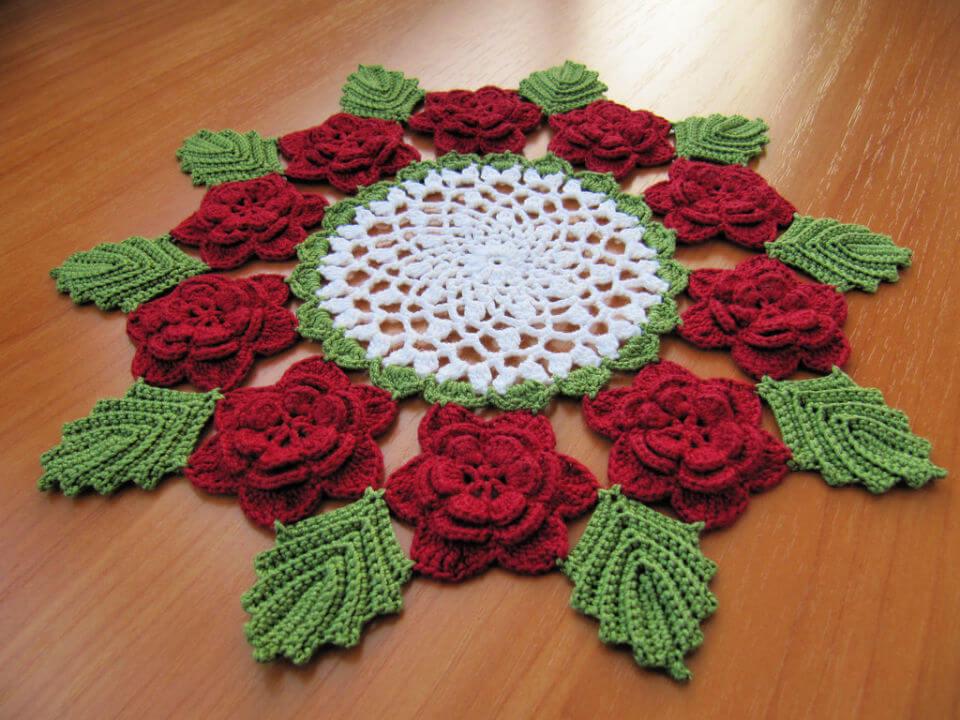 Crochet Rose Doily