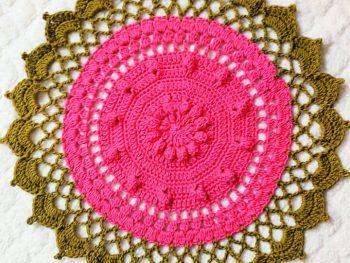 Crochet Round Floral Doily Placemat