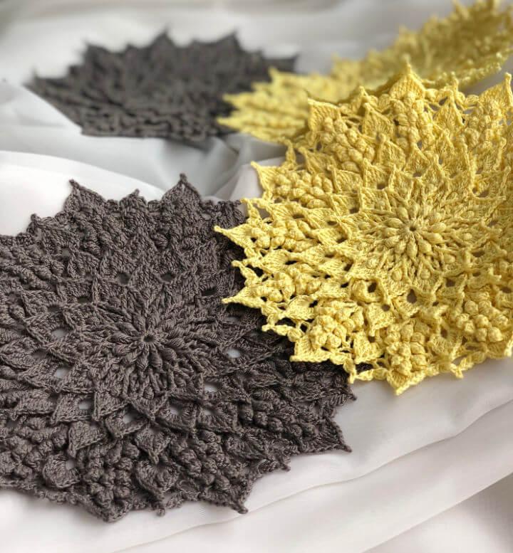 Crochet Round Textured Doily