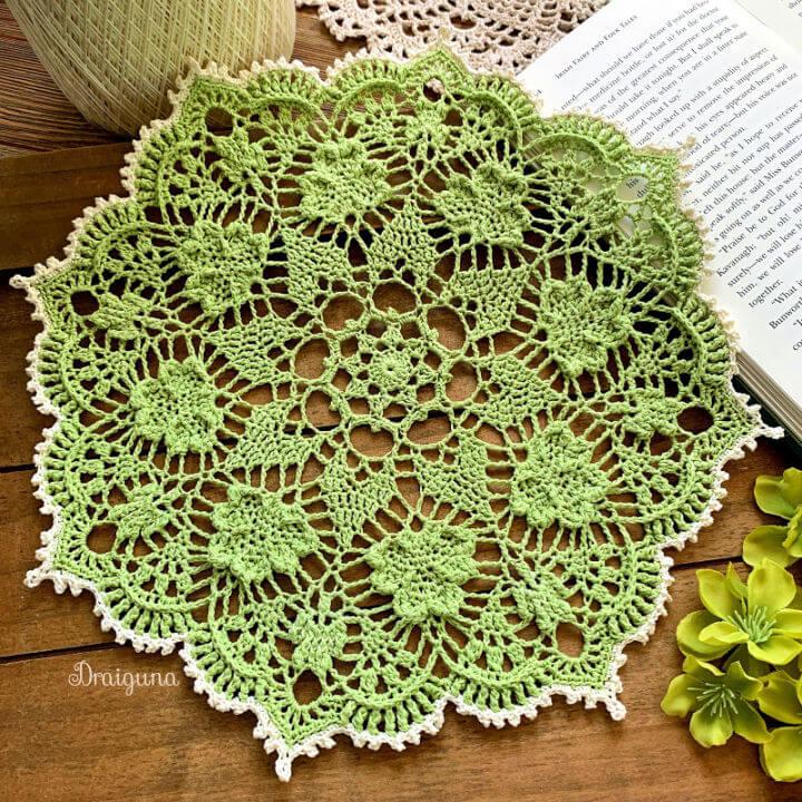 Crochet Shamrock Soiree Doily