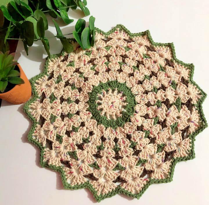 Crochet Shell Stitch Round Doily