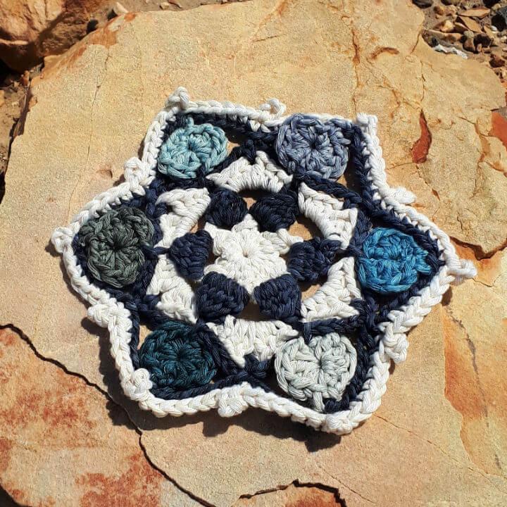 Crochet Star Hearts Doily