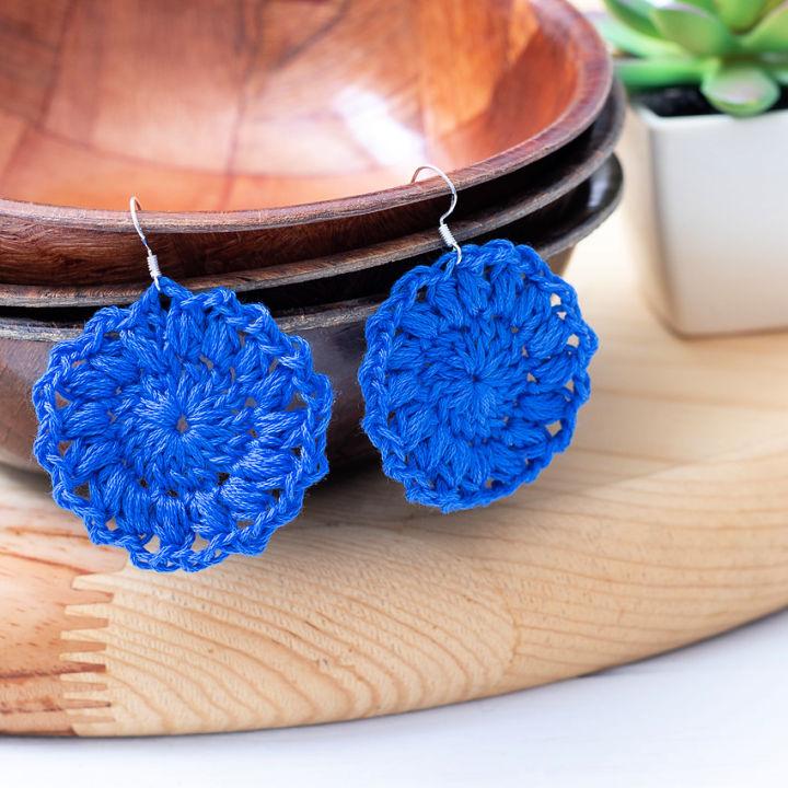 Crochet Sunburst Earrings