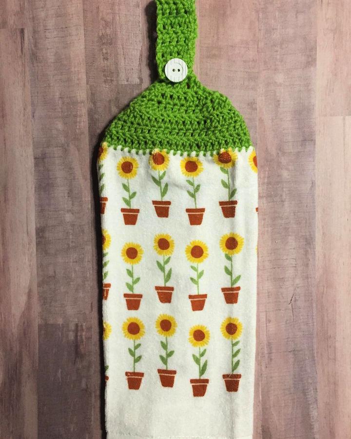 Crochet Sunflower Towel