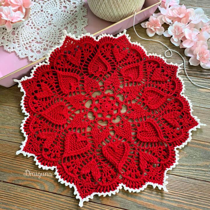 Crochet Sweetheart Soiree Doily