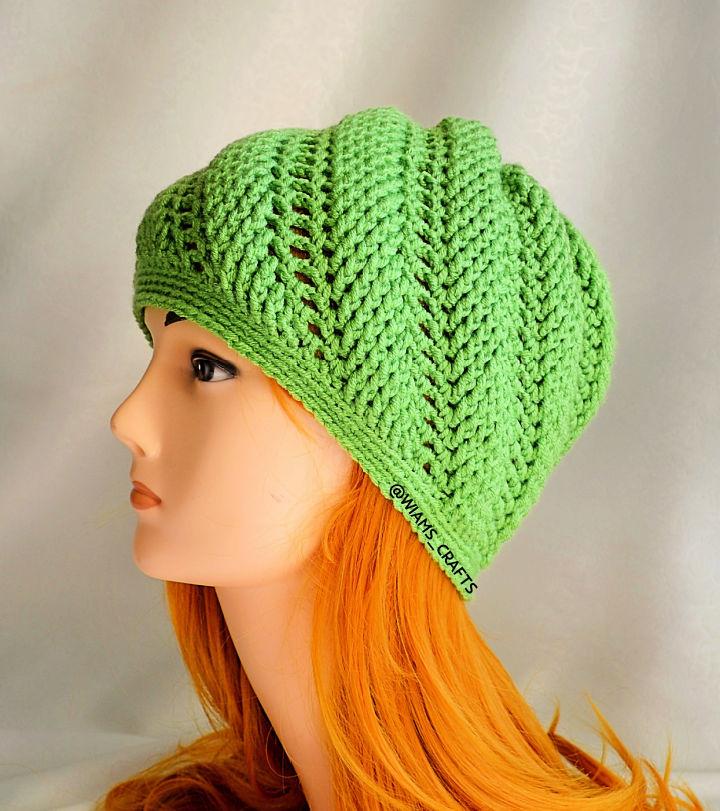 Crochet Swirl Wave Hat