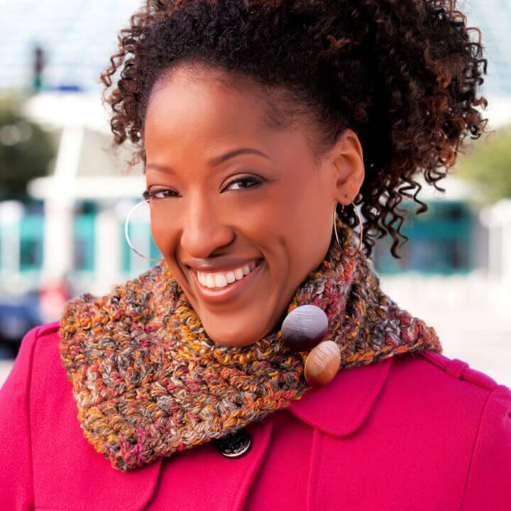 Crochet Textured Neck Warmer