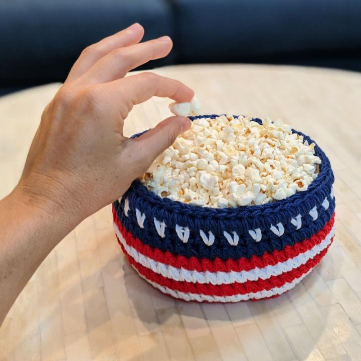 Crocheted Patriotic Basket