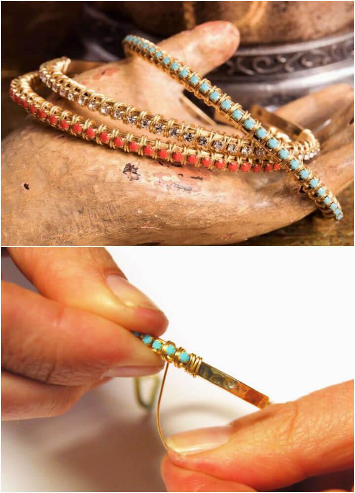 Crystal Wrapped Cuff Bracelet
