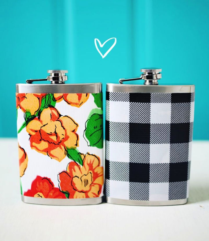 Customize a Flask with Oil Cloth
