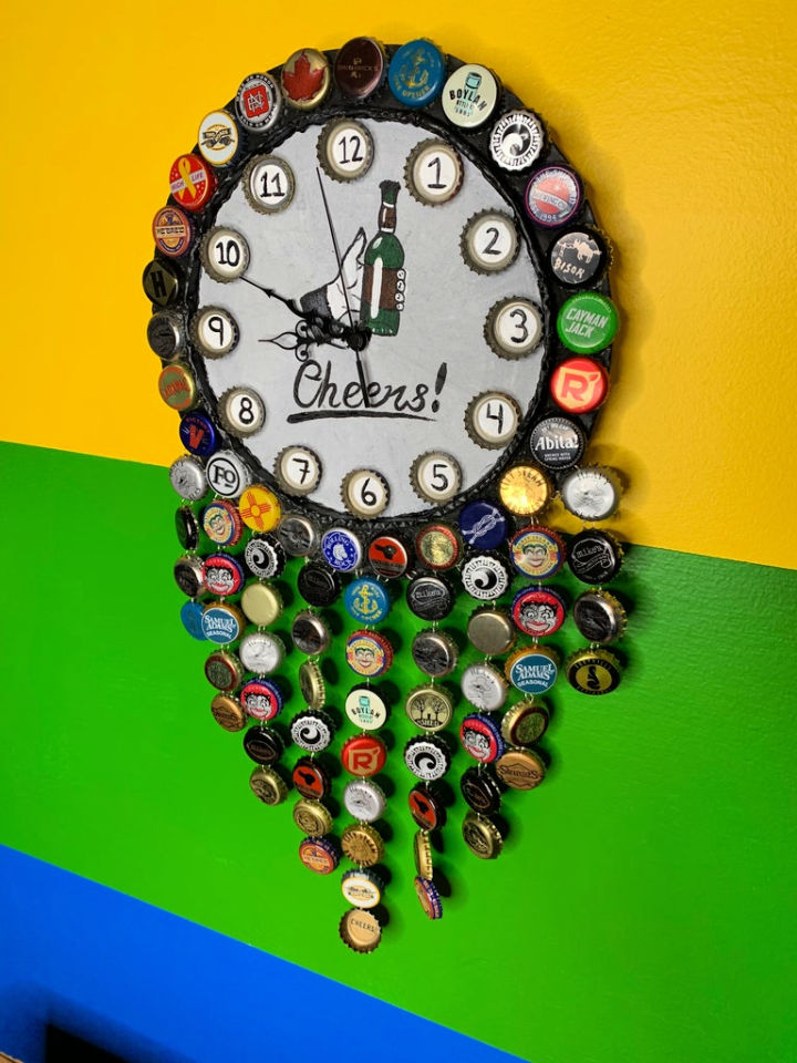 DIY Bottle Cap Clock