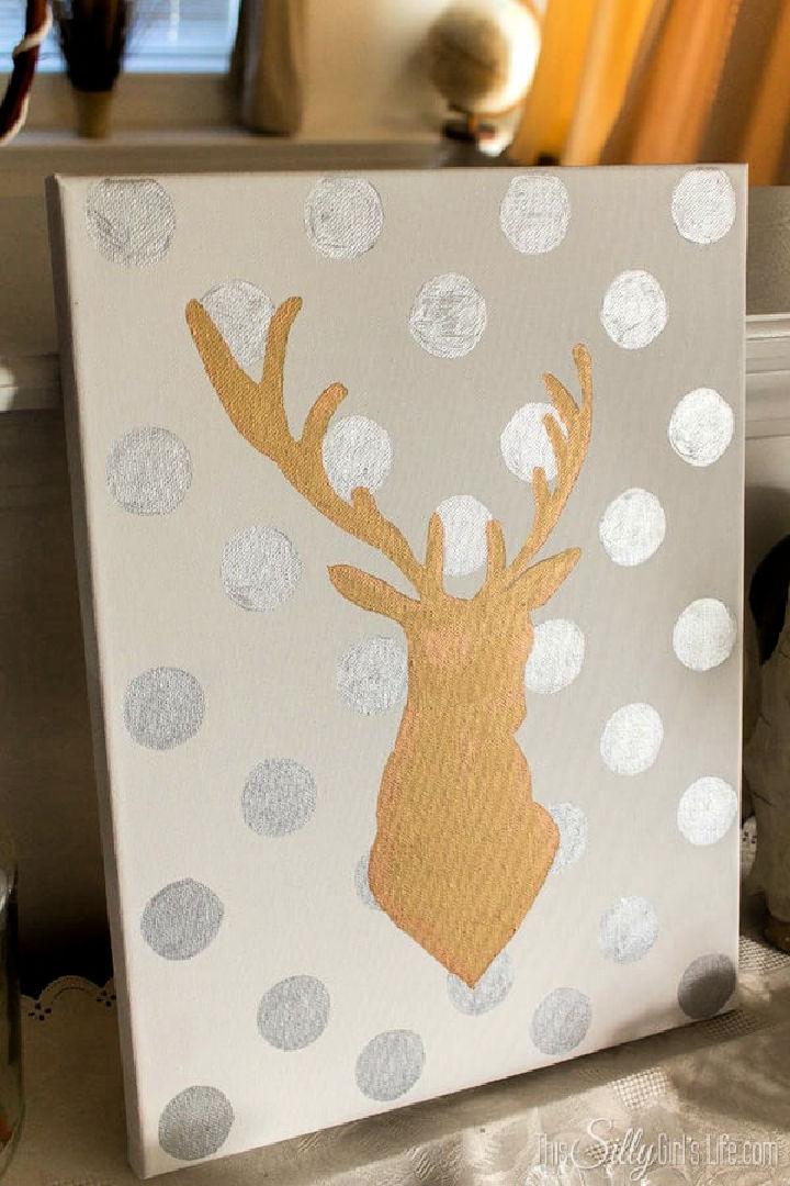 DIY Canvas Art with Sharpie