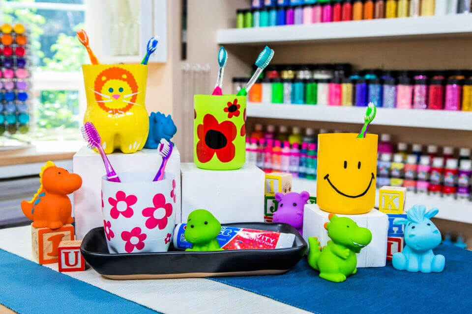 DIY Childrens Toothbrush Holders