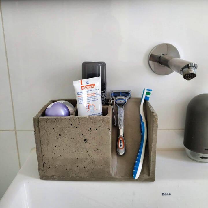 DIY Concrete Toothbrush Holder